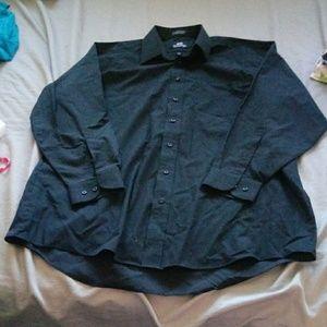 Stafford black dress shirt 34-35 17.5